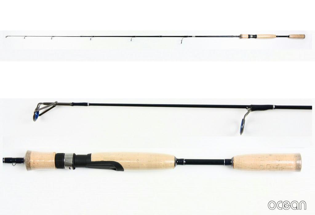 バス釣り、ルアー、コンパクト 4ピース カーボン スピニングルアーロッド ocean DD21 5'6S