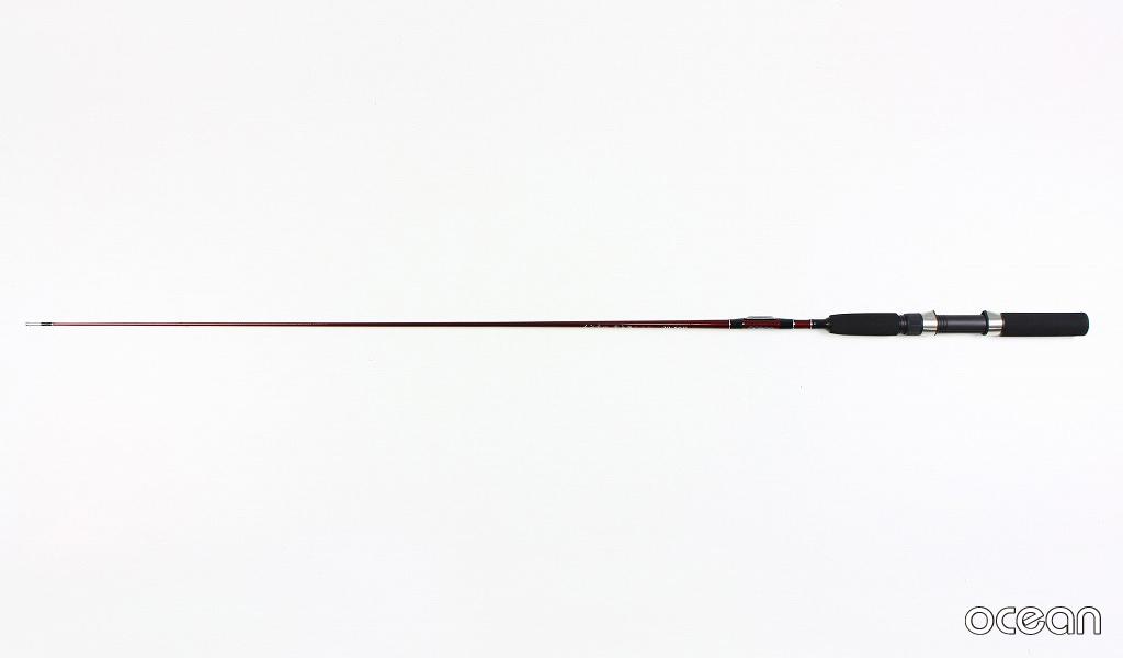 テトラ釣り、穴釣り 中通しカーボンテトラ竿  インナー テトラ 110(レッド)