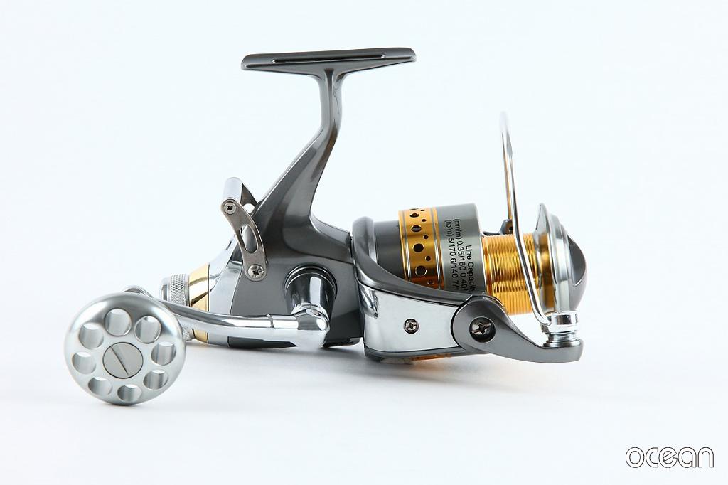 BRクラッチ搭載 カープ、鯉釣り 高性能スピニングリール ocean S3D 50 (6BB+1)