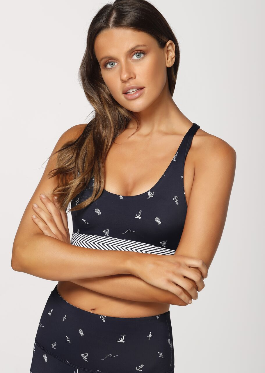 Sail Away Sports Bra