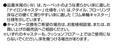 コクヨ レグノ キャスター詳細