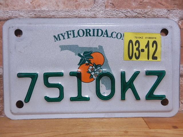 USEDモーターサイクル ナンバープレート フロリダ