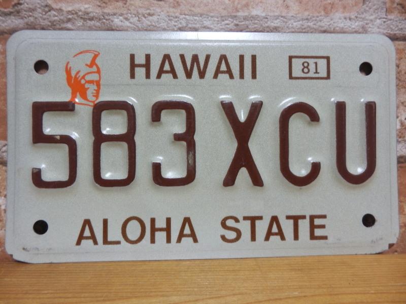 【送料無料】USED モーターサイクル ナンバープレート 583 XCU