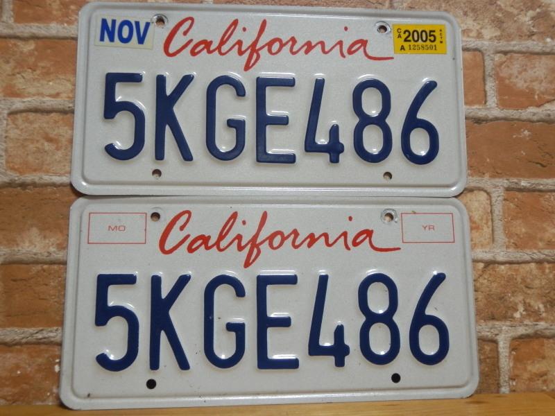 USEDペアプレート カリフォルニアw CA