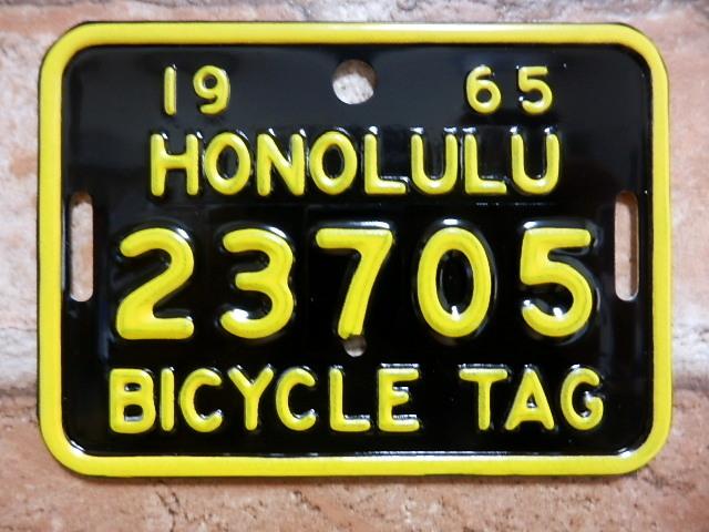 ホノルル バイク タグ  b23705