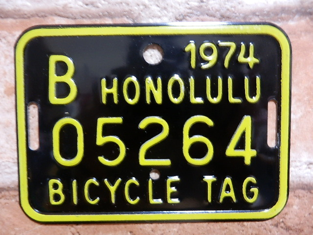 ホノルル バイク タグ b05264