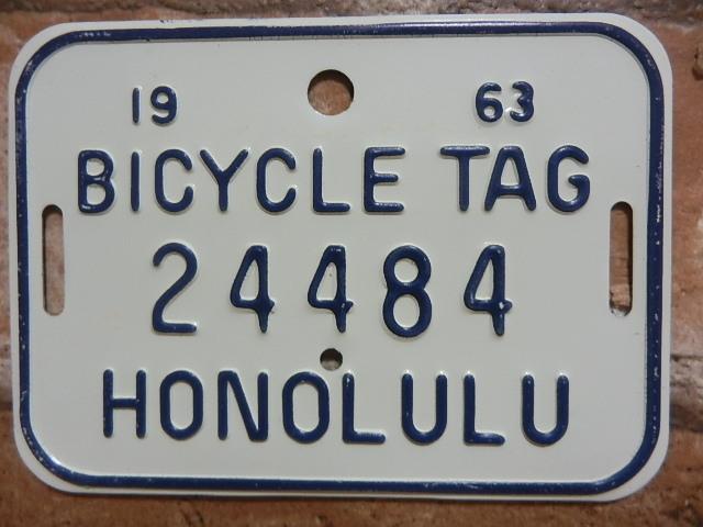 ホノルル バイク タグ w24484
