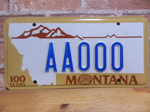 USEDサンプルプレート モンタナ MT