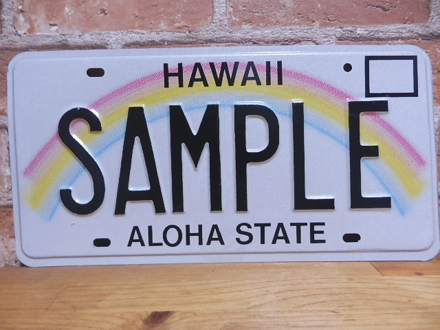 USEDサンプルプレート ハワイ HI