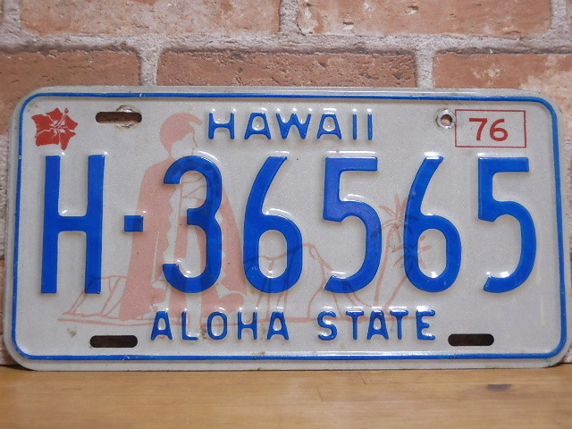 USEDナンバープレート ハワイ HI
