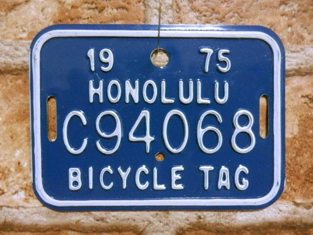 ホノルル バイク タグ C94068