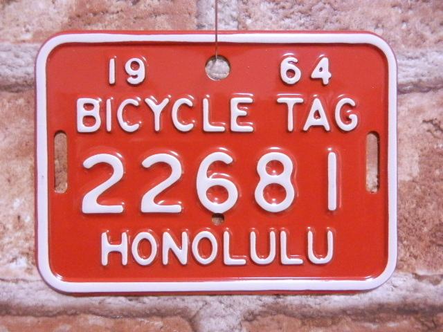 ホノルル バイク タグ  r22681