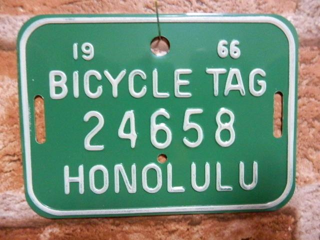 ホノルル バイク タグ g24658
