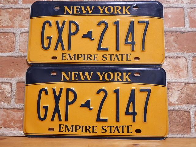 【送料無料】<USEDペアプレート ニューヨークw NY