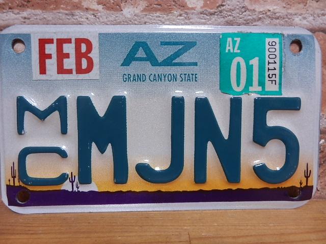 USEDモーターサイクル ナンバープレート アリゾナ