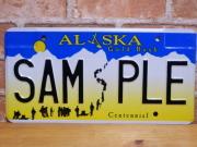 USEDサンプルプレート アラスカ AK