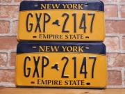 USEDペアプレート ニューヨークw NY