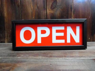 オープンサインランプ