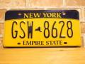 USEDナンバープレート ニューヨーク NY