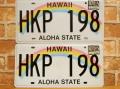 【送料無料】USED  ペアプレート ハワイw HI