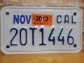 USEDモーターサイクルナンバープレート カリフォルニア