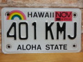 【送料無料】USED モーターサイクル ナンバープレート 401 KMJ