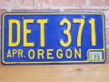 USEDナンバープレート オレゴン OR