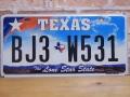USEDナンバープレート テキサス TX