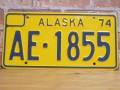 USEDナンバープレート アラスカ AK