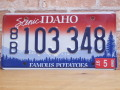 USEDナンバープレート アイダホ ID