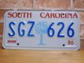 USEDナンバープレート サウスカロライナ SC