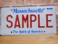 USEDサンプルプレート マサチューセッツ MA