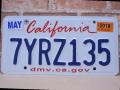 USEDナンバープレート カリフォルニア CA