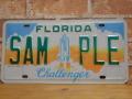 USEDサンプルプレート フロリダ FL