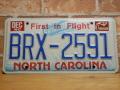 USEDナンバープレート ノースカロライナ NC