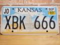 USEDナンバープレート カンザス KS