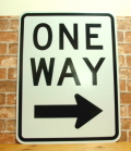 ONE WAY SQUARE SIGN