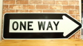 ONE WAY ARROW SIGN