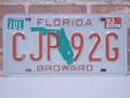 USEDナンバープレート フロリダ FL