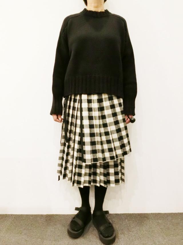 HACHE:ギンガムキルトスカート