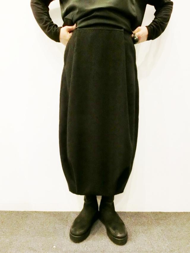 ALBUM DI FAMIGLIA:ウールコットンバルーンスカート
