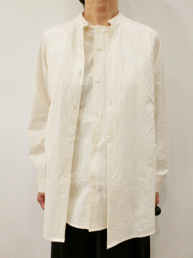 ECOLE DE CURIOSITES:コットンダブルシャツ