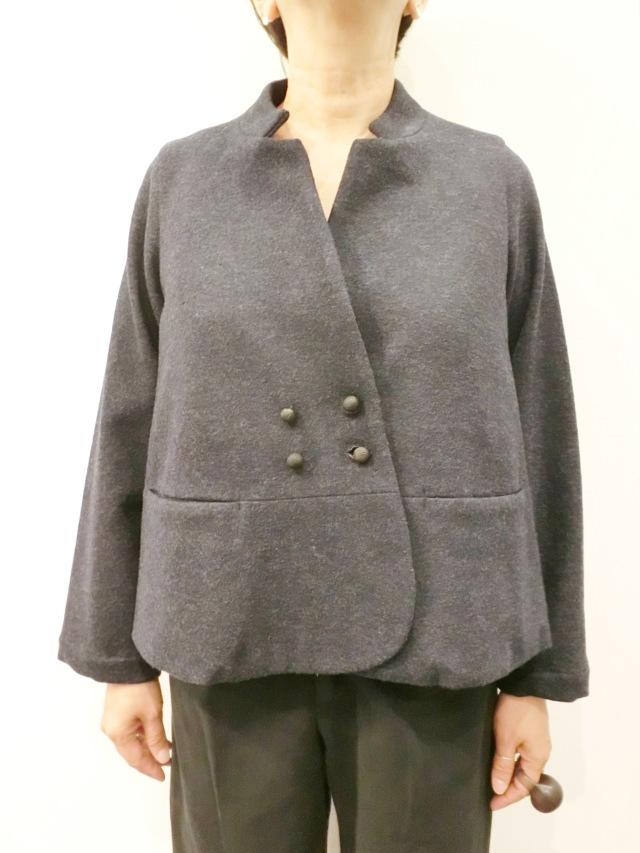 ECOLE DE CURIOSITES:ウールコットンショートジャケット