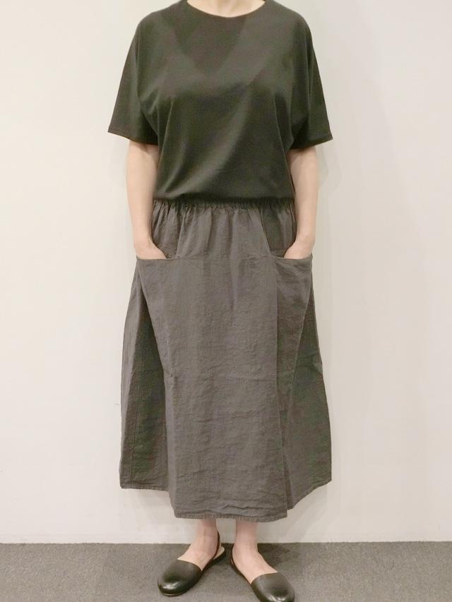 MANUELLA GUIBALLE:リネンポケットスカート