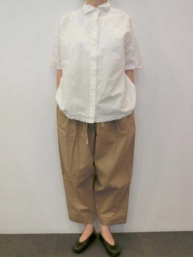CASEY CASEY:コットンホワイトシャツ