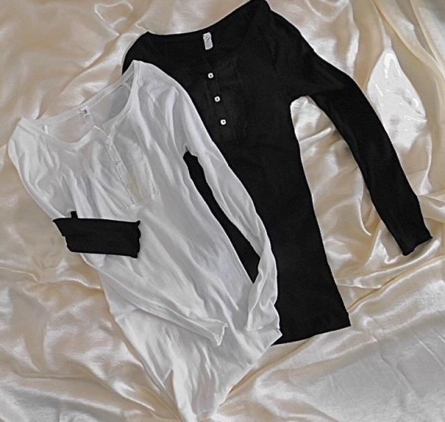 RIG:ヘンリーネック長袖Tシャツ