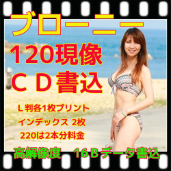 ブローニーフィルム現像+L版各1枚プリント+Wインデックス+CD書込 (高解像度16B)
