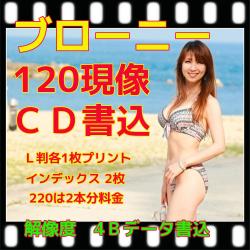 ブローニーネガフィルム現像+L版各1枚プリント+Wインデックス+CD書込(4B)