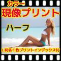 ハーフ カラーフィルム 現像+L版各1枚プリント+インデックス