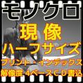 ハーフ モノクロ フィルム現像+Wインデックス+CD書き込み(画像の荒い解像度4B)B&W現像